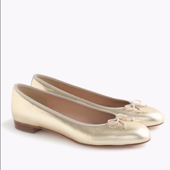 🥂2/$60 SALE🥂NWOT J. Crew Gold Ballet Flats - 7